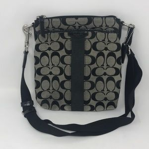 Coach Classic C Black and Beige crossbody bag